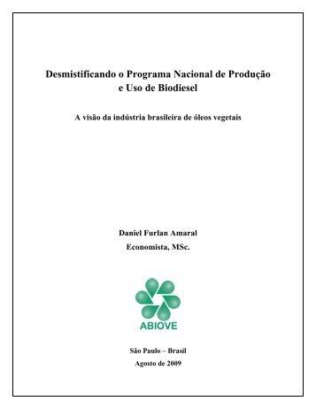 O que é biodiesel? - ABIOVE - Associação Brasileira das Indústrias ...