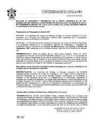 UNIVERSIDAD DE GUADALAJARA - Inicio