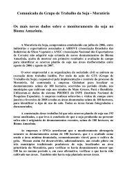 Comunicado do Grupo de Trabalho da Soja - ABIOVE - Associação ...