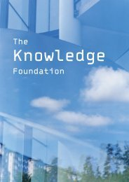 read more about the KK-foundation in this .pdf document - krAft