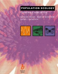 POPULATION ECOLOGY: A Unijied Study of Animals and Plants