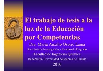 tesis por competencias - Ingenieriaquimica.buap.mx - Benemérita ...