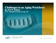 Challenges in an Aging Workforce - Maintenance Training