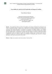 Áreas úmidas da América do Sul registradas em ... - mtc-m17:80 - Inpe