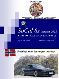 August 2012 Car of the Month - BMW Car Club Norway