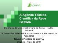 A Agenda Técnico-Científica da Rede GEOMA