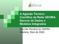 A Agenda Técnico- Científica da Rede GEOMA: Bancos de ... - LNCC
