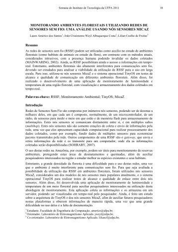 MODELO DE RESUMO EXPANDIDO - SITEC2012 - Semana do ...