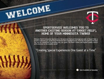 Creating Special Experiences One Guest at a Time - Minnesota Twins