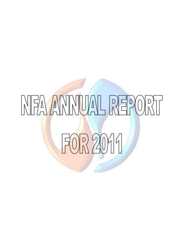 2010 NFA Annual Report