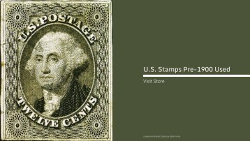 U.S. Stamps Pre-1900 Used