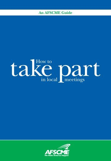 How to Take Part in Local Meetings