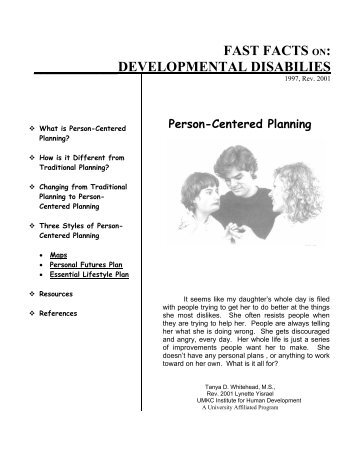 Person Centered Plan Sample 2
