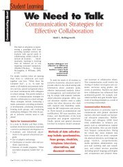 We Need to Talk: Communication Strategies for Effective Collaboration