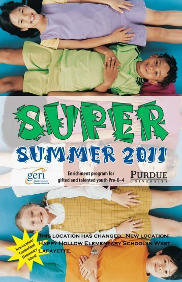 super - Gifted Education Resource Institute - Purdue University