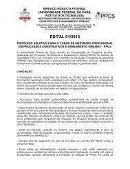 EDITAL 01/2013 - Propesp - Universidade Federal do Pará