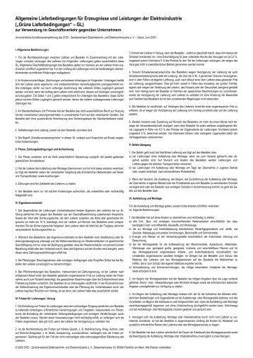 Grüne Lieferbedingungen Juni 2005, PDF - Hella