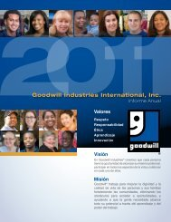 Goodwill Industries International Informe Anual 2011