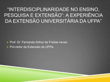 Dr. Fernando Arthur de Freitas Neves - Propesp - Universidade ...