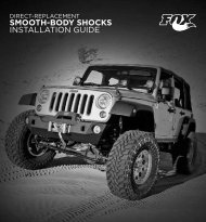 Direct-replacement Smooth-body Shocks Installation Guide - Fox