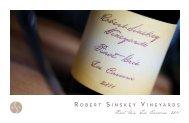 Booklet - Robert Sinskey Vineyards