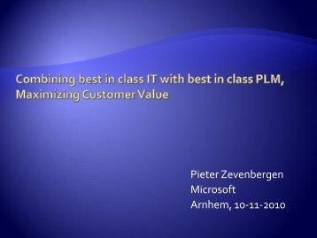 Pieter Zevenbergen Microsoft Arnhem, 10-11-2010