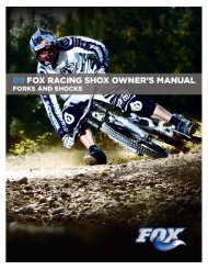 2009 Fox Racing Shox Owner's Manual - Bike-Components