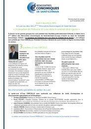 Communiqué de presse n°2 - Saint Germain-en-Laye