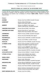 Procès verbal du 30 septembre - Saint Germain-en-Laye