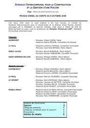 Procès verbal du 9 octobre - Saint Germain-en-Laye