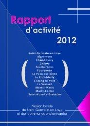 Rapport d'activité 2012 - Saint Germain-en-Laye