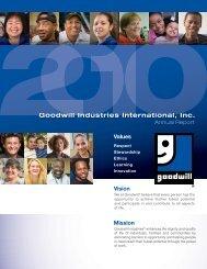 2010 Annual Report (357 KB) - Goodwill Industries International