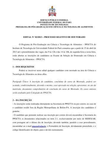 Edital Nº02/2013 - Propesp - Universidade Federal do Pará
