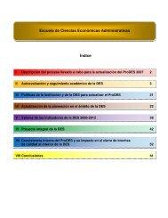 Escuela de Ciencias Económicas Administrativas Índice