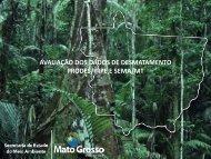 avaliação dos dados de desmatamento prodes/inpe e sema/mt