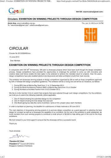 Exhibition on Winning Projects Through Design Competition - APEX ...