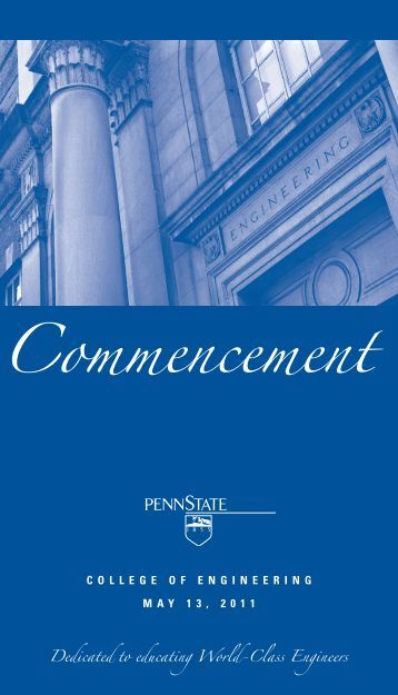 Commencement - College of Engineering - Pennsylvania State ...
