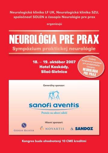 NEUROLÓGIA PRE PRAX - Solen