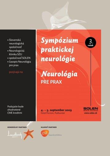 Sympózium praktickej neurológie Neurológia PRE PRAX 3. - Solen