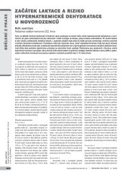 začátek laktace a riziko hypernatremické dehydratace u ... - Solen