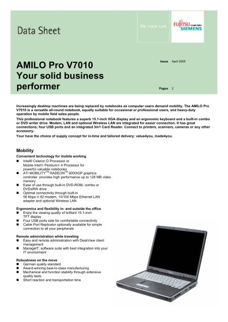 NEW DRIVER: AMILO PRO V7010 WIRELESS