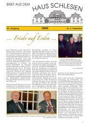 Friede auf Erden - Haus Schlesien