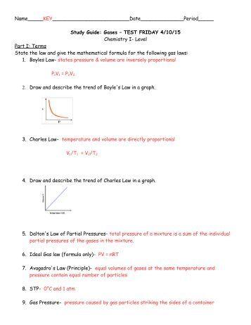 Dalton's Law of Partial Pressures Worksheet