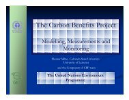 The Carbon Benefits Project