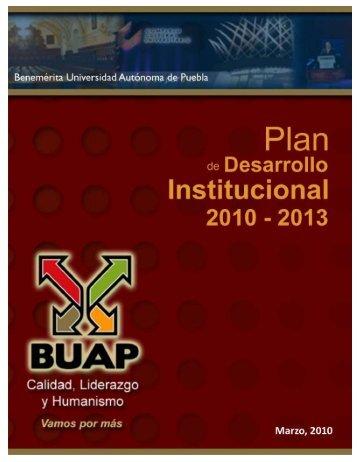 Plan de Desarrollo Institucional - Transparencia - Benemérita ...