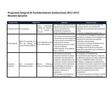 Programa Integral de Fortalecimiento Institucional ... - Transparencia