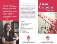 Download the brochure - University College - University of Toronto