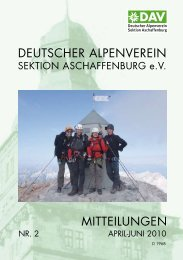 deutscher alpenverein mitteilungen - Alpenverein-Aschaffenburg.de