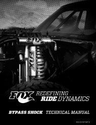 bypass shock technical manual - Fox