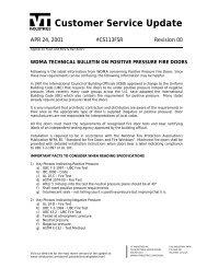 wdma technical bulletin on positive pressure fire ... - VT Industries Inc